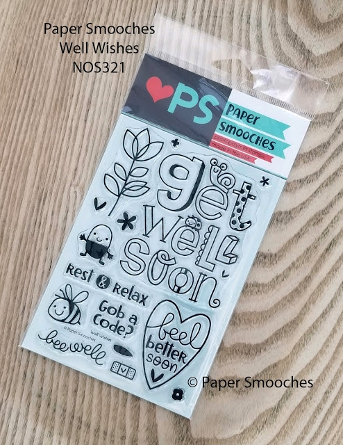Paper Smooches WELL WISHES Clear Stamps NOS321 zoom image