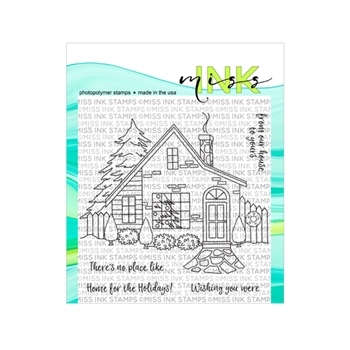 Miss Ink Stamps HOLIDAY HOME Clear Set n19st08