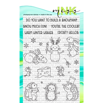 Miss Ink Stamps SNOW BUDDIES Clear Set n19st03