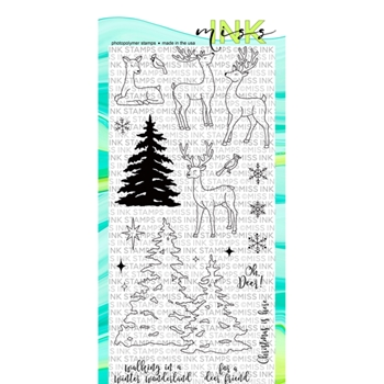 Miss Ink Stamps OH DEER Clear Set n19st04