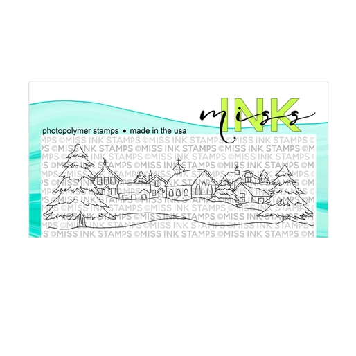 Miss Ink Stamps SNOWY VILLAGE Clear Set n19st07 zoom image