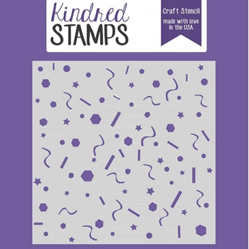 Kindred Stamps BIRTHDAY CONFETTI Stencil 97020220
