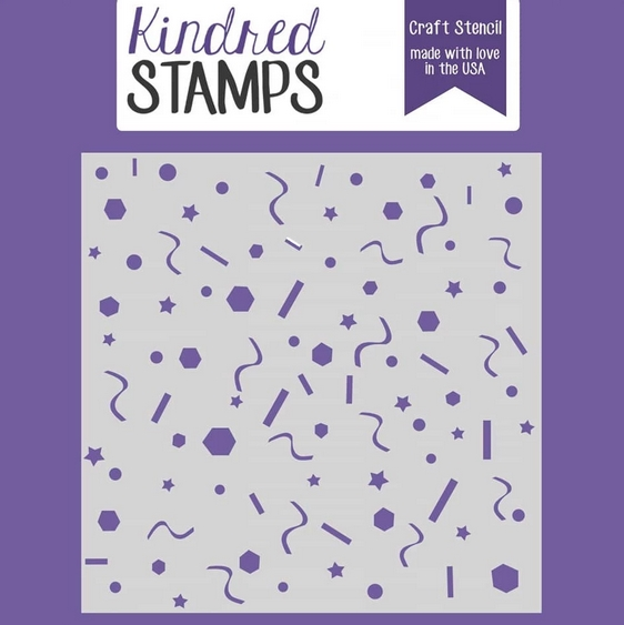 Kindred Stamps BIRTHDAY CONFETTI Stencil 97020220 zoom image