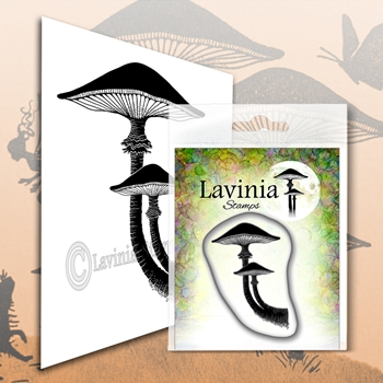 Lavinia Stamps FOREST MUSHROOM Clear Stamp LAV565