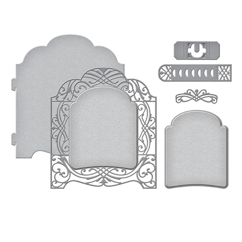 S5-408 Spellbinders GRAND VAULTED CABINET Etched Dies Preview Image