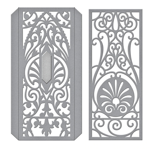 S4-1031 Spellbinders DECORATIVE EDGE AND SPINES Etched Dies Preview Image