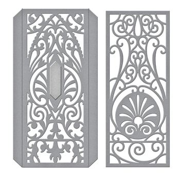 S4-1031 Spellbinders DECORATIVE EDGE AND SPINES Etched Dies