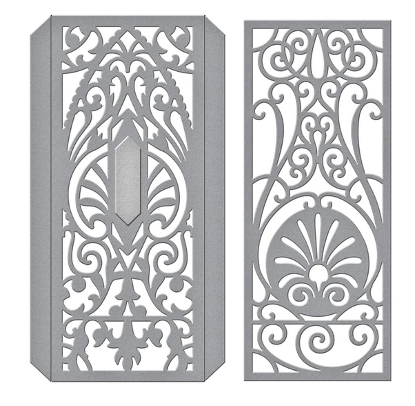S4-1031 Spellbinders DECORATIVE EDGE AND SPINES Etched Dies zoom image