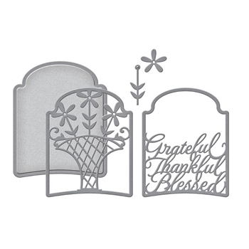 S4-1029 Spellbinders GREATFUL THANKFUL BLESSED 3D LAYERING Dies