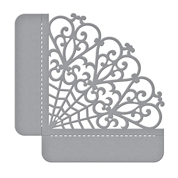 S4-1028 Spellbinders WOVEN TRELLIS SIDE POCKET Etched Dies