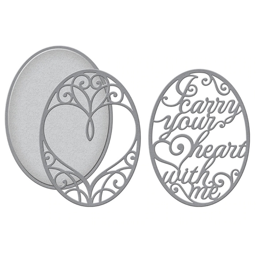 S4-1026 Spellbinders I CARRY YOUR HEART 3D LAYERING Dies* Preview Image