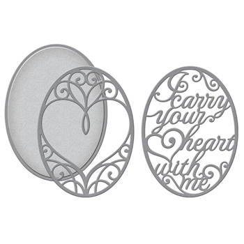 S4-1026 Spellbinders I CARRY YOUR HEART 3D LAYERING Dies*