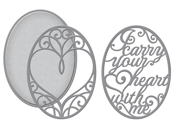 S4-1026 Spellbinders I CARRY YOUR HEART 3D LAYERING Dies* zoom image