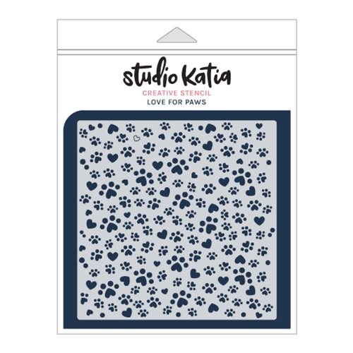 Studio Katia LOVE FOR PAWS Stencil sks022 Preview Image