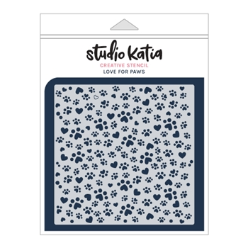 Studio Katia LOVE FOR PAWS Stencil sks022