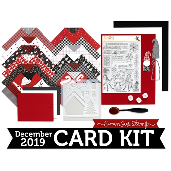 Simon Says Stamp Card Kit of The Month DECEMBER 2019 GNOME FOR THE HOLIDAYS ck1219