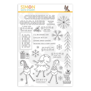 RESERVE Simon Says Clear Stamps GNOME FOR THE HOLIDAYS sss201907
