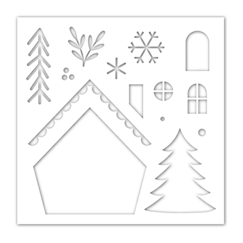 Simon Says Stamp Stencil CHRISTMAS GNOME HOME ssst121466