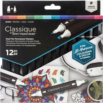 Crafter's Companion JEWEL Classique Spectrum Noir Markers specn-cs12-jew