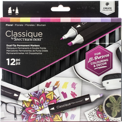 Crafter's Companion FLORAL Classique Spectrum Noir Markers specn-cs12-flo Preview Image