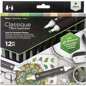Crafter's Companion NATURE Classique Spectrum Noir Markers specn-cs12-nat