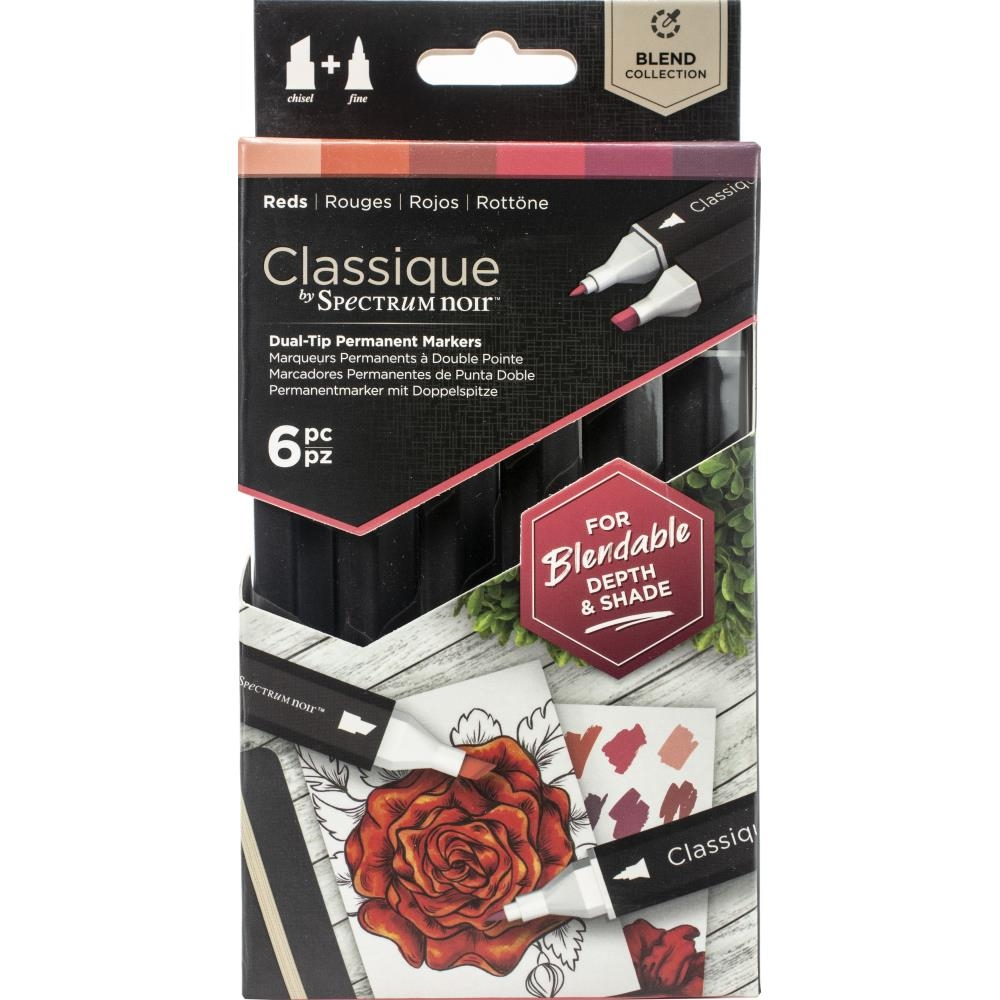Crafter's Companion REDS Classique Spectrum Noir Markers specn-cs6-red zoom image