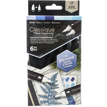 Crafter's Companion BLUES Classique Spectrum Noir Markers specn-cs6-blu