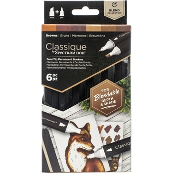 Crafter's Companion BROWNS Classique Spectrum Noir Markers specn-cs6-bro