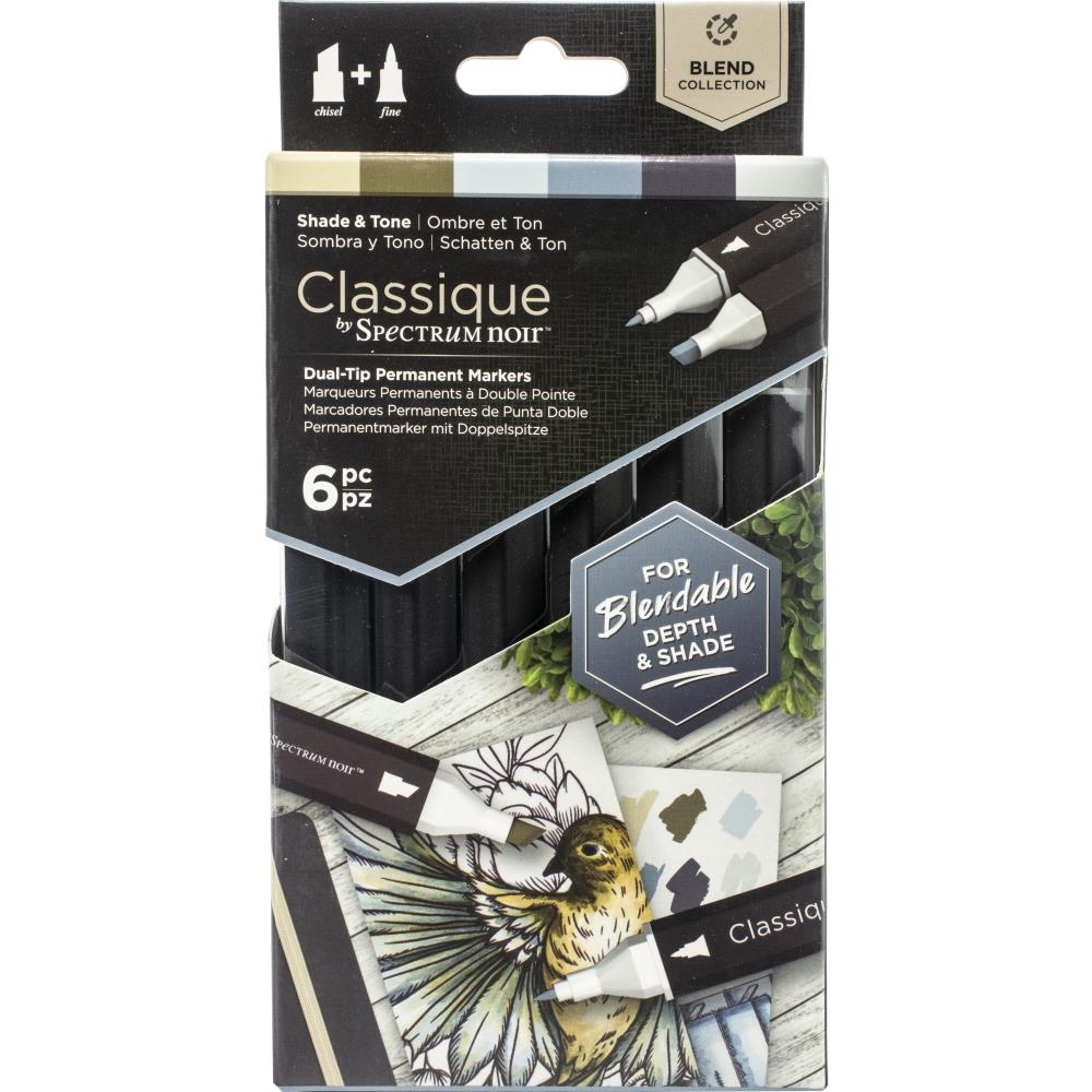 Crafter's Companion SHADE AND TONE Classique Spectrum Noir Markers specn-cs6-st zoom image