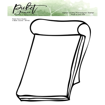 Picket Fence Studios BLANK JOURNAL Clear Stamp art100