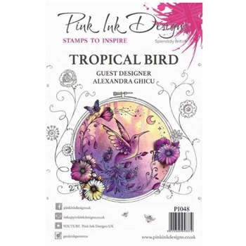 Pink Ink Designs TROPICAL BIRD A5 Clear Stamps pi048