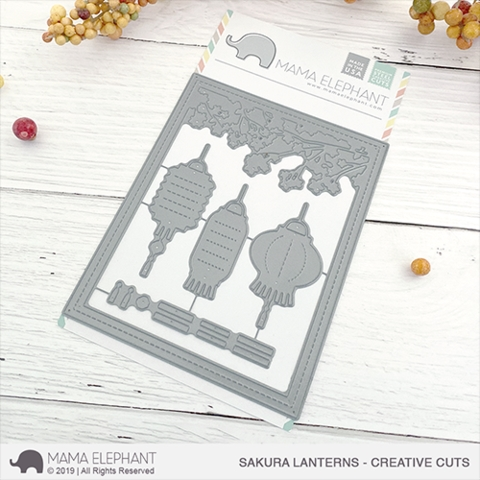 Mama Elephant SAKURA LANTERNS Creative Cuts Steel Dies Preview Image