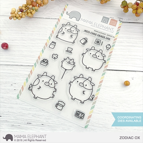 Mama Elephant Clear Stamps ZODIAC OX  Preview Image