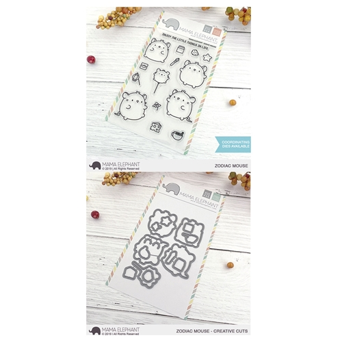 Mama Elephant Clear Stamp and Die MEPT718 Zodiac Mouse SET Preview Image