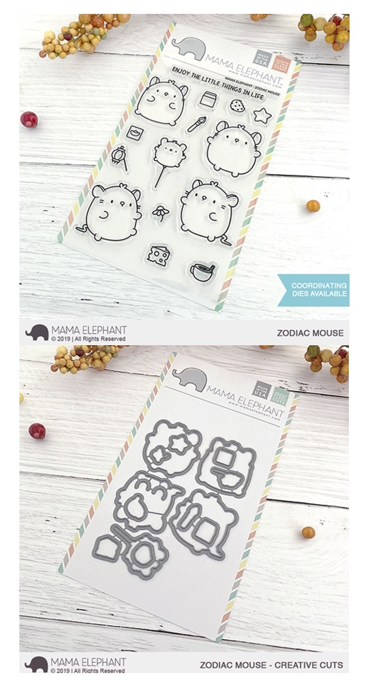 Mama Elephant Clear Stamp and Die MEPT718 Zodiac Mouse SET zoom image