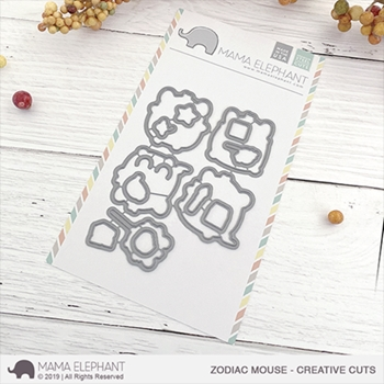 Mama Elephant ZODIAC MOUSE Creative Cuts Steel Dies