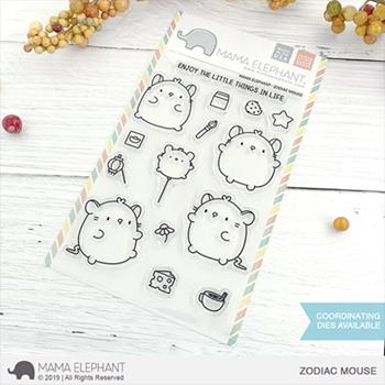 Mama Elephant Clear Stamps ZODIAC MOUSE