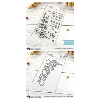 Mama Elephant Clear Stamp and Die MEPT714 Cherry Blossom Branch SET