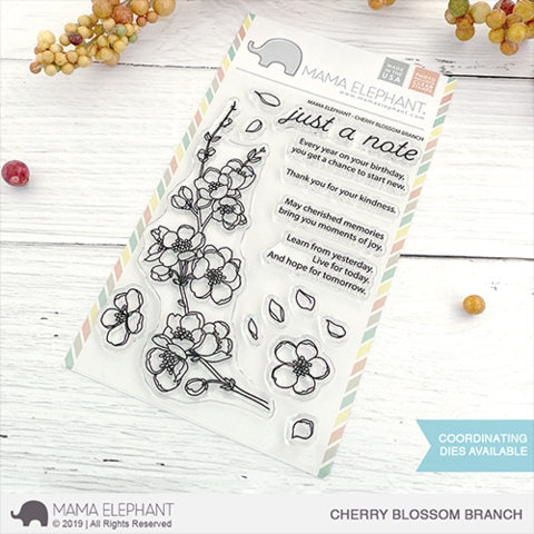 Mama Elephant Clear Stamps CHERRY BLOSSOM BRANCH Preview Image