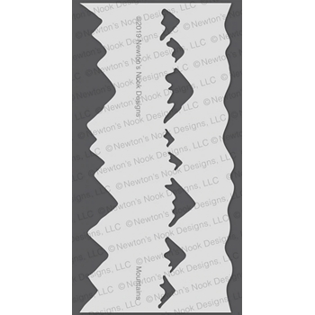 Newton's Nook Designs MOUNTAIN Stencil NN1911T01
