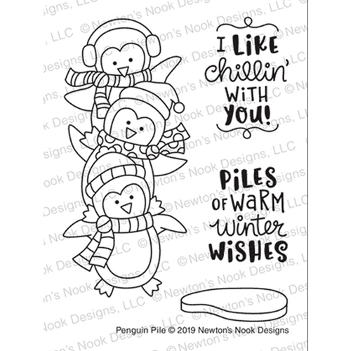 Newton's Nook Designs PENGUIN PILE Clear Stamps NN1911S03  Preview Image