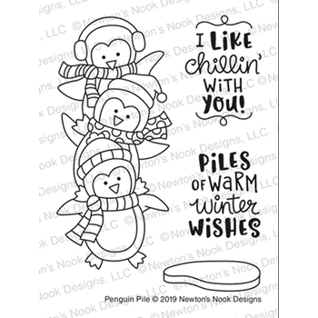 Newton's Nook Designs PENGUIN PILE Clear Stamps NN1911S03