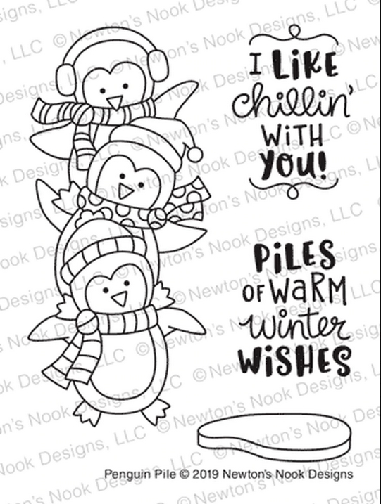 Newton's Nook Designs PENGUIN PILE Clear Stamps NN1911S03  zoom image