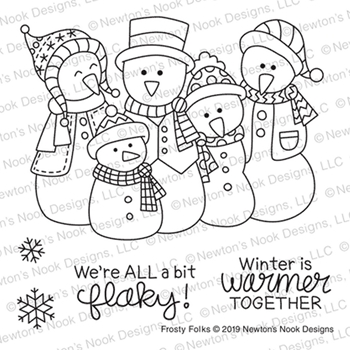 Newton's Nook Designs FROSTY FOLKS Clear Stamps NN1911S02