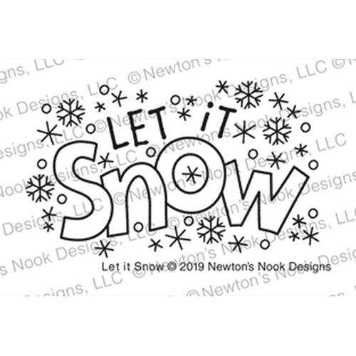 Newton's Nook Designs LET IT SNOW Clear Stamps NN1911S05 Preview Image