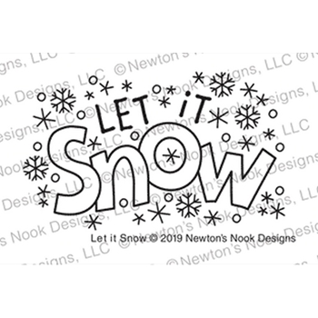 Newton's Nook Designs LET IT SNOW Clear Stamps NN1911S05