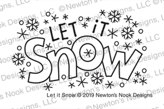 Newton's Nook Designs LET IT SNOW Clear Stamps NN1911S05 zoom image