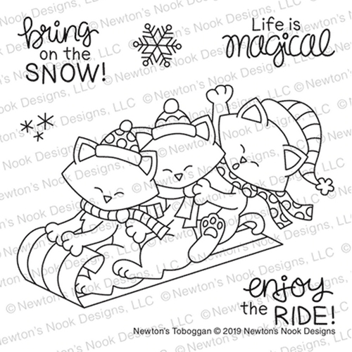 Newton's Nook Designs NEWTON'S TOBOGGAN Clear Stamps NN1911S01  Preview Image