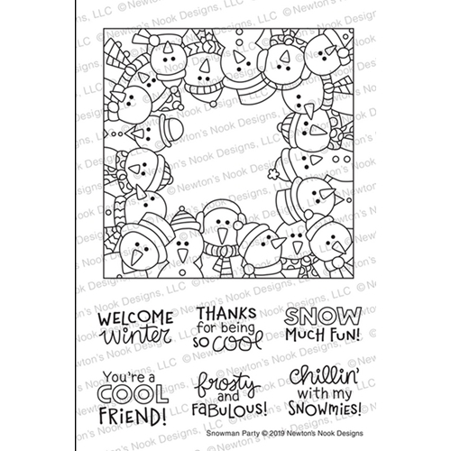 Newton's Nook Designs SNOWMAN PARTY Clear Stamps NN1911S04 Preview Image