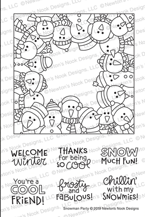 Newton's Nook Designs SNOWMAN PARTY Clear Stamps NN1911S04 zoom image